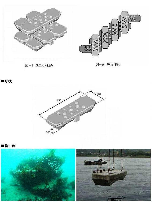 カナクラブロック(多目的藻礁)